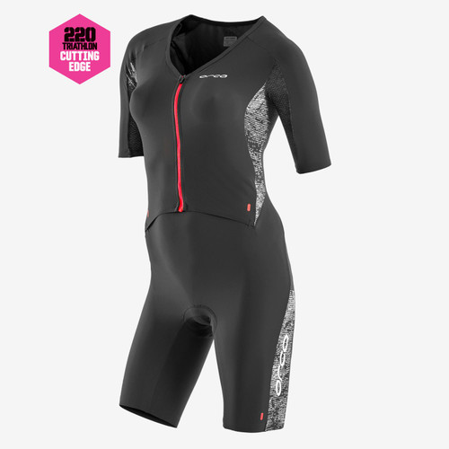 Orca Womens 226 Short Sleeve Tri Suit - Black/Red - 2020/2021
