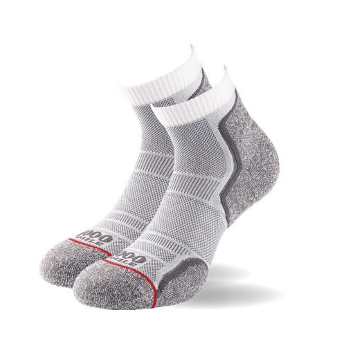 1000 Mile Socks - Mens Run Anklet Twin Pack - Grey
