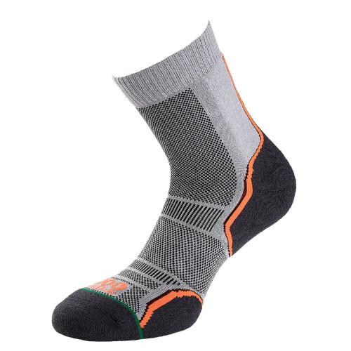 1000 Mile Socks - Womens Trail Sock Twin Pack - Grey