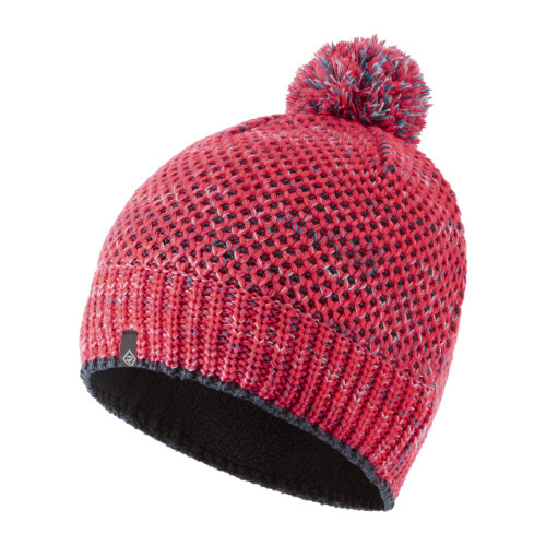 Ronhill Bobble Hat - Pink/Charcoal