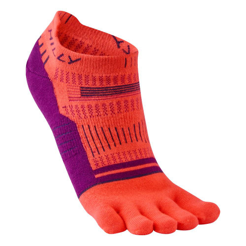 Hilly Socks Womens Toe Socklet - Hot Coral