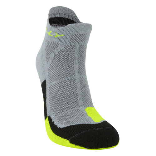 Hilly Socks Cushion Socklet - Grey/Fluro Yellow