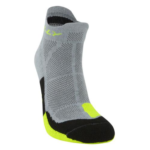 Hilly Socks Cushion Socklet - Grey/Fluro Yellow