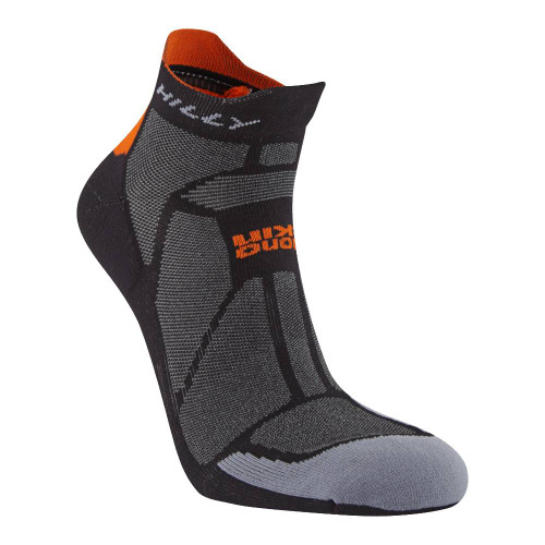 Hilly Socks Marathon Fresh Socklet - Black/Orange