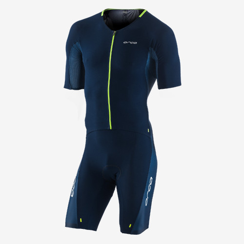 Orca Mens 226 Short Sleeve Tri Suit - Blue/Green- NEW for 2021