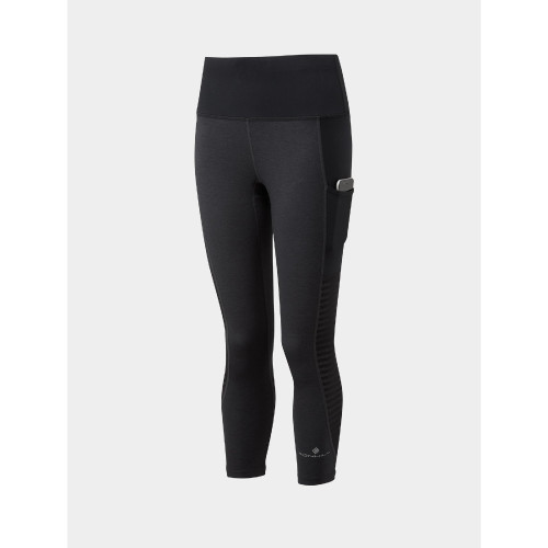 Ronhill - Womens Life Scult Crop Tight - Charcoal/Black