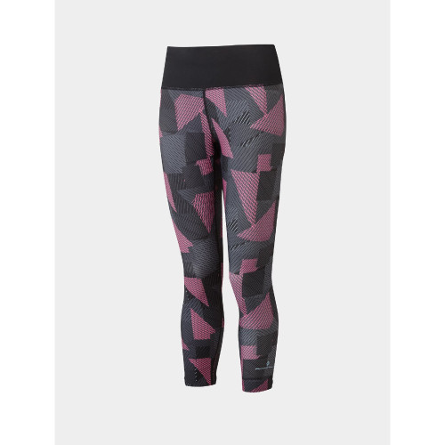 Ronhill - Womens Life Crop Tight - Black/Hot Pink