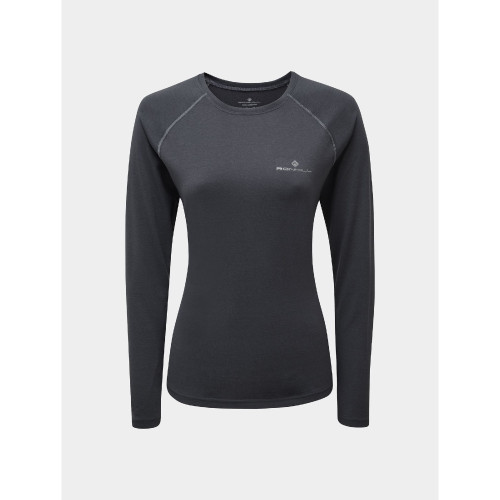Ronhill - Womens Core Long Sleeve Tee - Charcoal