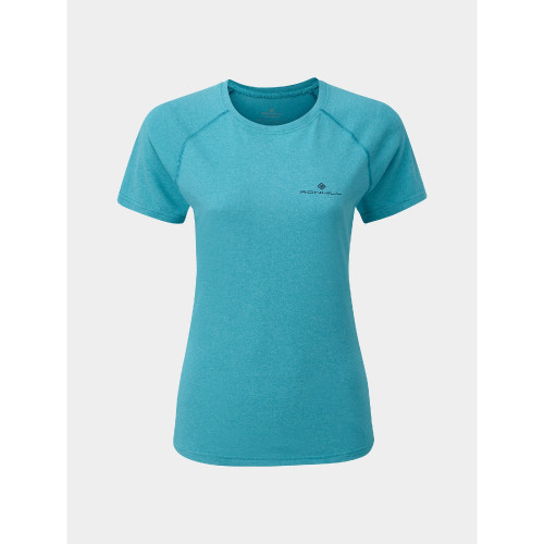 Ronhill - Womens Core Short Sleeve Tee - Spa Green / Navy