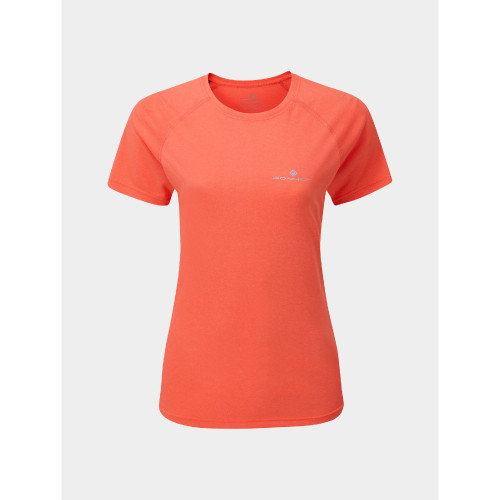 Ronhill - Womens Core Short Sleeve Tee - Hot Pink / Chambray