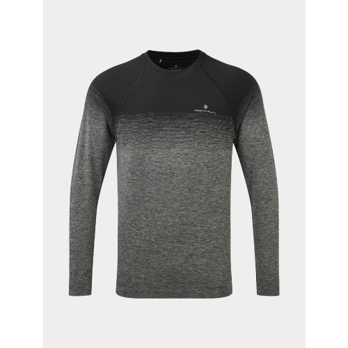 Ronhill - Mens Tech Marathon Long Sleeve Tee - Black/Grey