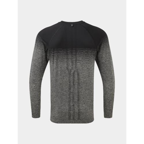 Ronhill - Mens Tech Marathon Long Sleeve Tee - Black/Grey