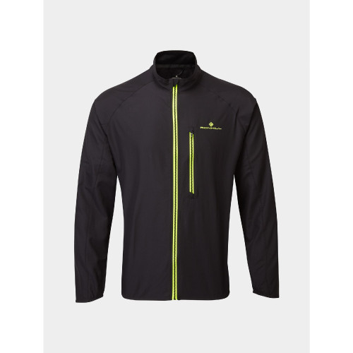 Ronhill - Mens Core Jacket - Black/Fluro Yellow