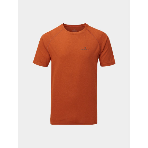 Ronhill - Mens Core Short Sleeve Tee - Brick/Charcoal