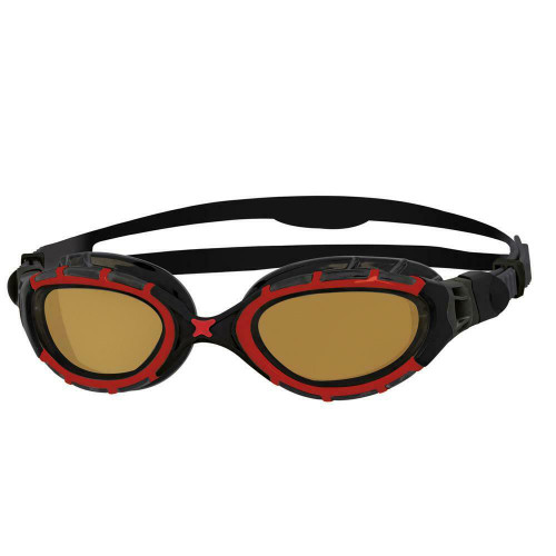 Zoggs Predator Flex Polarized Ultra - Black/Red Copper Polarized - Regular Fit