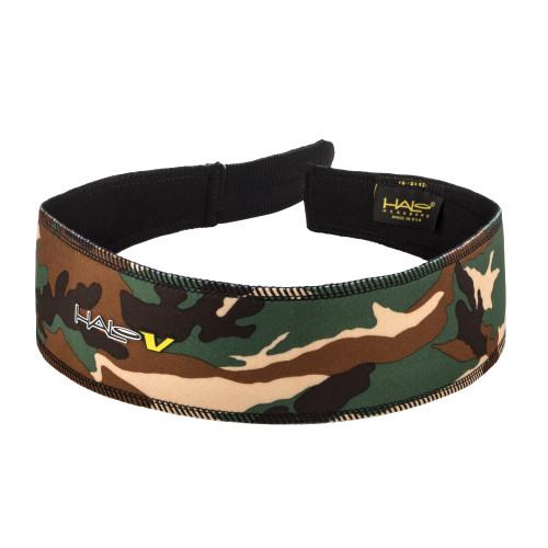 Halo V Headband - Adjustable Strap - Camo Green
