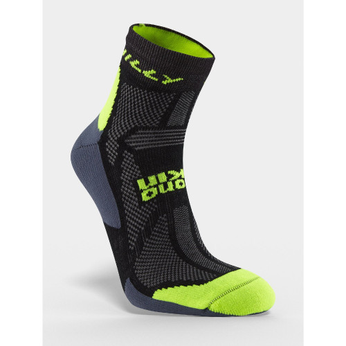 Hilly Socks Off Road Trail Anklet - Black/Fluro Yellow