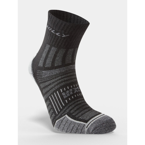 Hilly Socks Twin Skin Anklet - Black/Grey