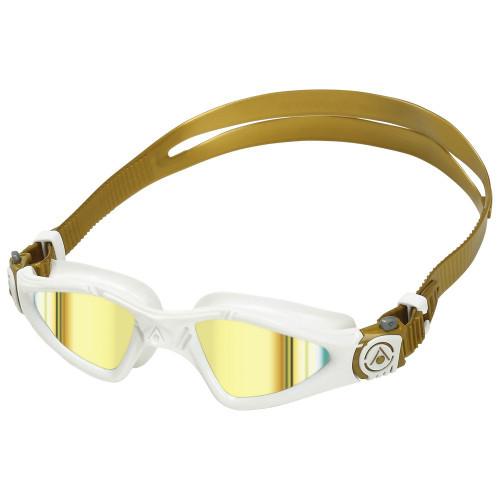 Aqua Sphere Kayenne Swimming Goggles - Gold Titanium Mirror Compact fit