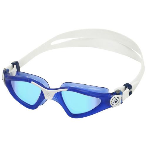 Aqua Sphere Kayenne Swimming Goggles - Blue Titanium Mirror