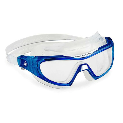Aqua Sphere Vista Pro Swimming Goggles - Clear Lens /Blue Frame