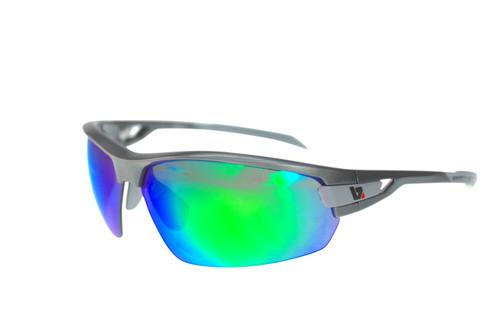 BZ Optics Sports Sunglasses - PHO Graphite Frame - Green Mirror Lens