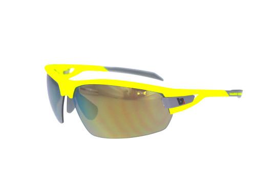 BZ Optics Sports Sunglasses - PHO Yellow Frame - Yellow Mirror Lens