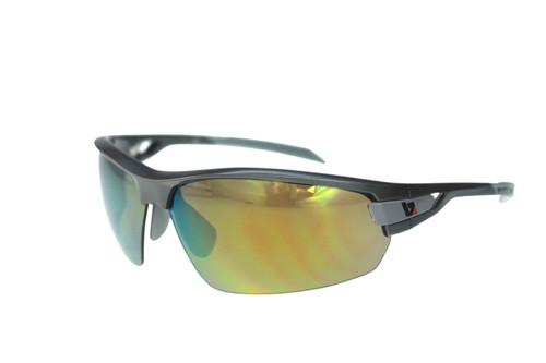 BZ Optics Sports Sunglasses - PHO Graphite Frame - Yellow Mirror Lens