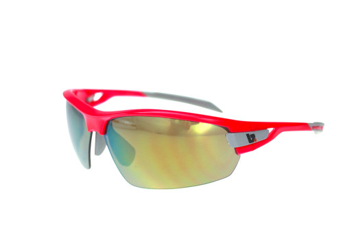 BZ Optics Sports Sunglasses - PHO Pink Frame - Yellow Mirror Lens