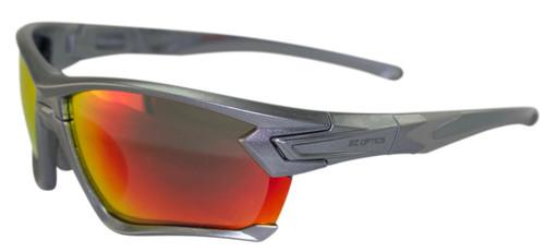 BZ Optics Sports Sunglasses - TOUR Graphite Frame - Red Mirror Lens