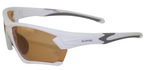BZ Optics Sports Sunglasses - TOUR White Frame - Photochromic HD Lens