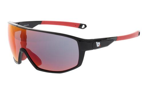BZ Optics Sports Sunglasses - RST Black Frame - Red Mirror Lens