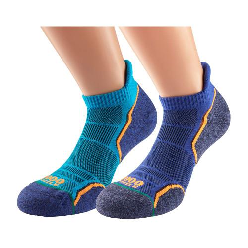 1000 Mile Socks - Mens Run Socklet Single Layer Twin Pack