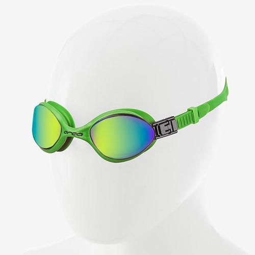 Orca Killa 180 Swimming Goggle - Green with Mirrored Lens