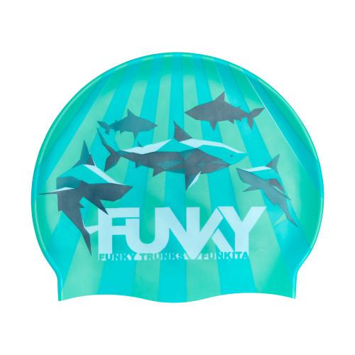 Funky Swim Cap - Shark Bay