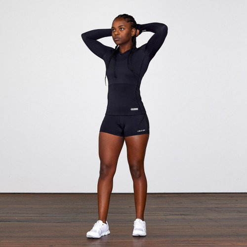BASE Compression Women's Long Sleeve Compression Tee - Black