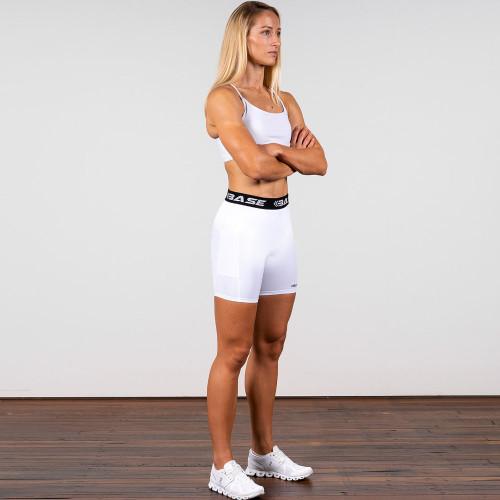 BASE Compression Women's Shorts - White