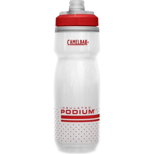 CamelBak Podium Chill 600ml Insulated Water Bottle - White/Red