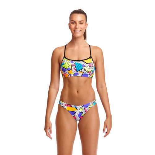 Funkita Ladies Swim Crop & Brief 2 Piece - Jumbled Up