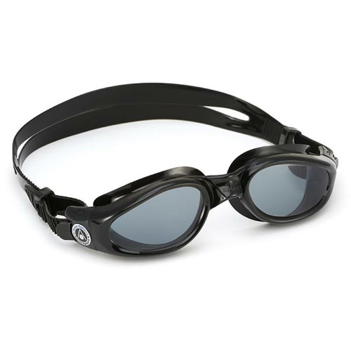 Aqua Sphere Kaiman Swimming Goggles - Smoked Lens with Black Frame