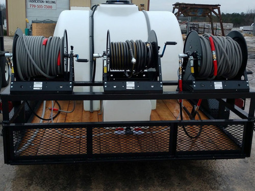 Customized Pressure Washer Trailer with Hose Reel Rack
