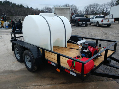 Custom Pressure Washer Trailer with 8 GPM 3500 PSI Pressure Pro Unit