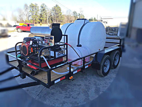 8 GPM Hot Water Pressure Washer Trailer Rental