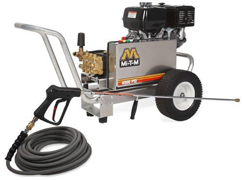Mi-T-M CBA Aluminum Pressure Washer, 4000 PSI, 4 GPM, CBA-4004-1MGH