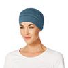 Yoga Turban Bamboo Chemo Cap- Ocean Blue -295 by Christine Headwear