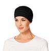 Yoga Turban Bamboo Chemo Cap- Dark Black-211 by Christine Headwear