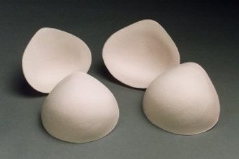 Foam breast forms or breast prosthesis.