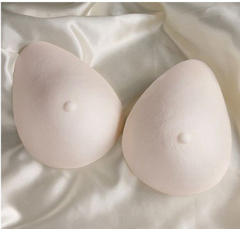 Triangle Foam Breast Forms or prosthesis by Nearly Me Style TF802 - Oval