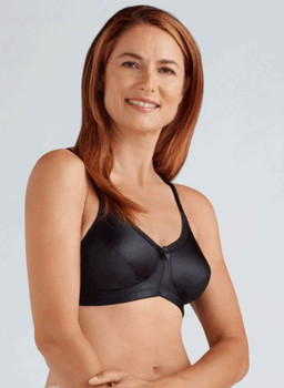 Rita Soft Cup wire - free mastectomy bra by Amoena- Black