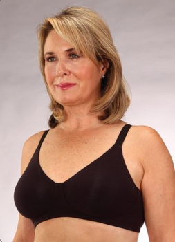 Classique  Mastectomy Cotton Bra - Style 722 -Black Allergy Free Cotton Bra for sensitive skin after mastectomy.